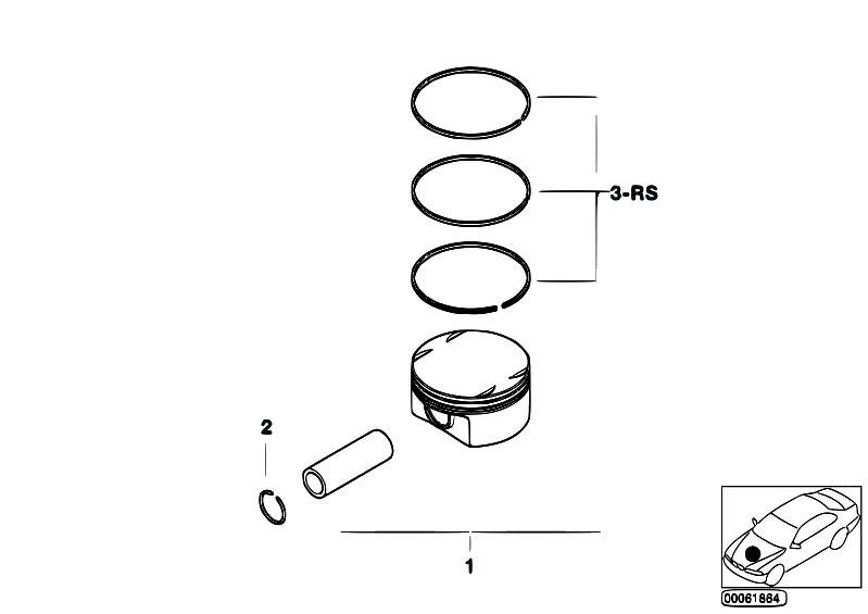 BMW 11257506253 Engine Piston Ring//Piston Rings