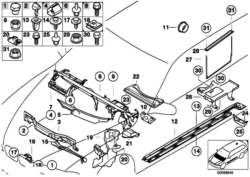 Original Parts For E39 525i M54 Touring    Vehicle Trim