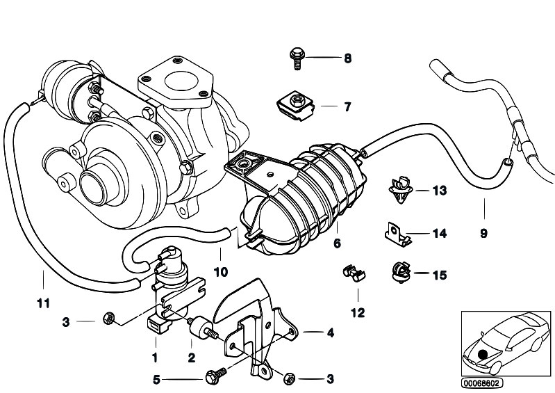 Original Parts For E39 520d M47 Sedan Engine Vacum