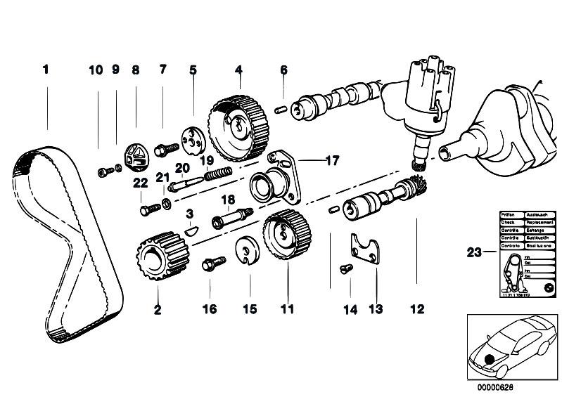 Original Parts For E30 323i M20 2 Doors    Engine   Timing