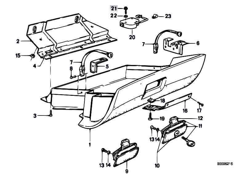 Original Parts For E30 M3 S14 Cabrio Vehicle Trim Glove Box