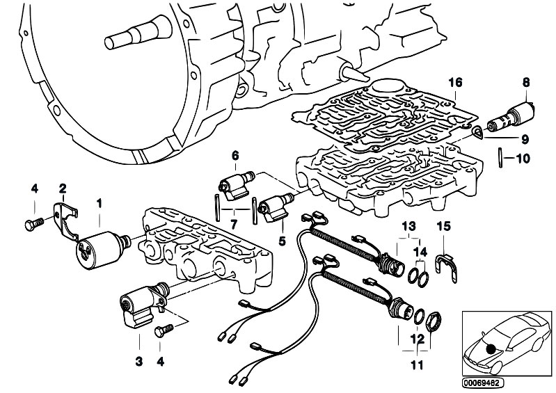 Original Parts For E36 318is M42 Sedan Automatic Transmission A4s