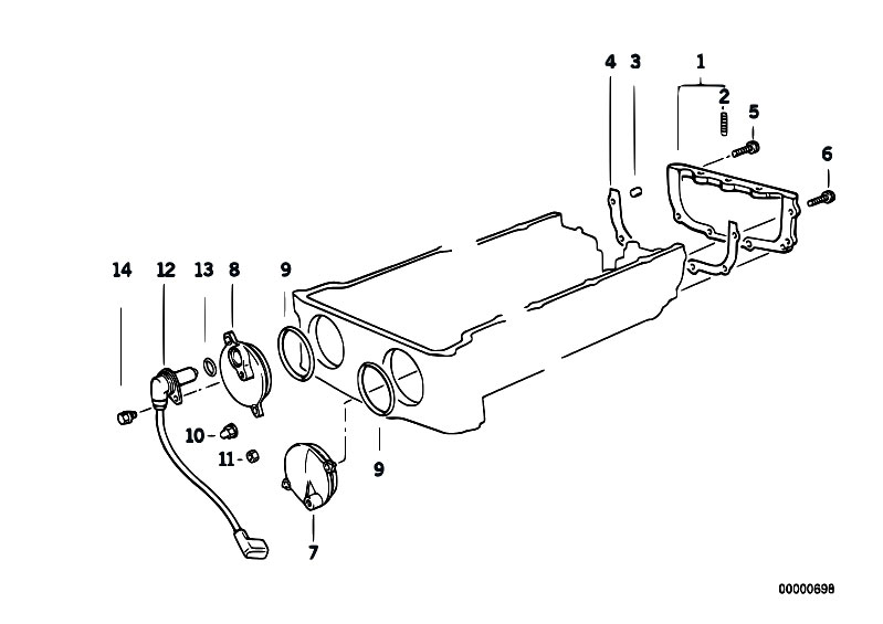 original parts for e34 m5 3 8 s38 sedan    engine   bottom