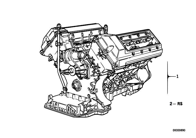 bmw m60 engine diagram original parts for e31 840i m60 coupe / engine/ short ... 1990 bmw 525i engine diagram