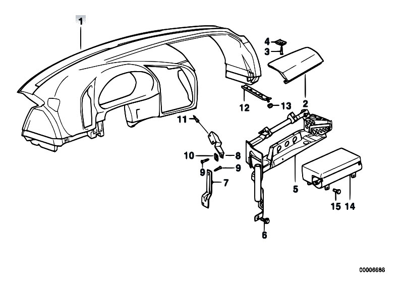 Original Parts For E36 318is M42 Coupe Vehicle Trim Dashboard
