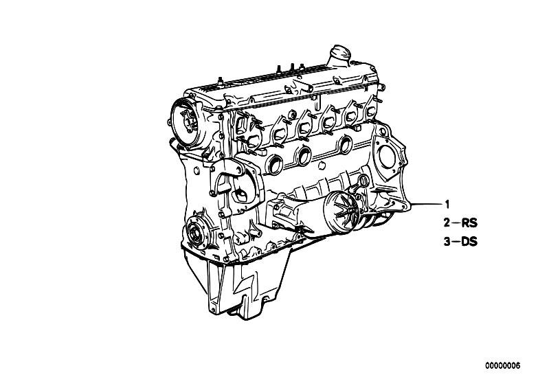 original parts for e34 535i m30 sedan    engine   short