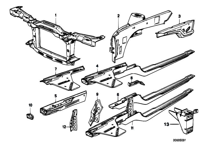 original parts for e30 320i m20 cabrio    bodywork