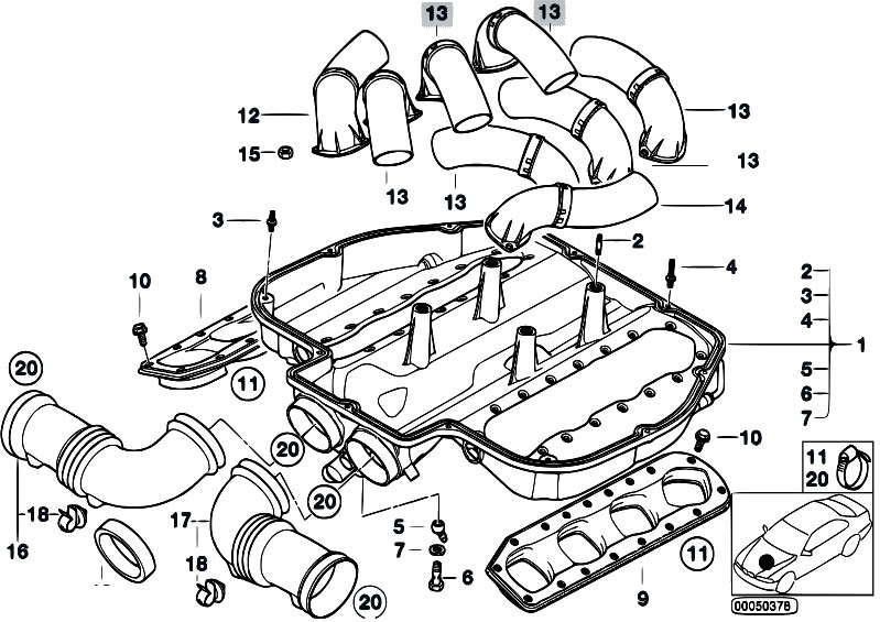 Original Parts For E39 M5 S62 Sedan    Engine   Intake