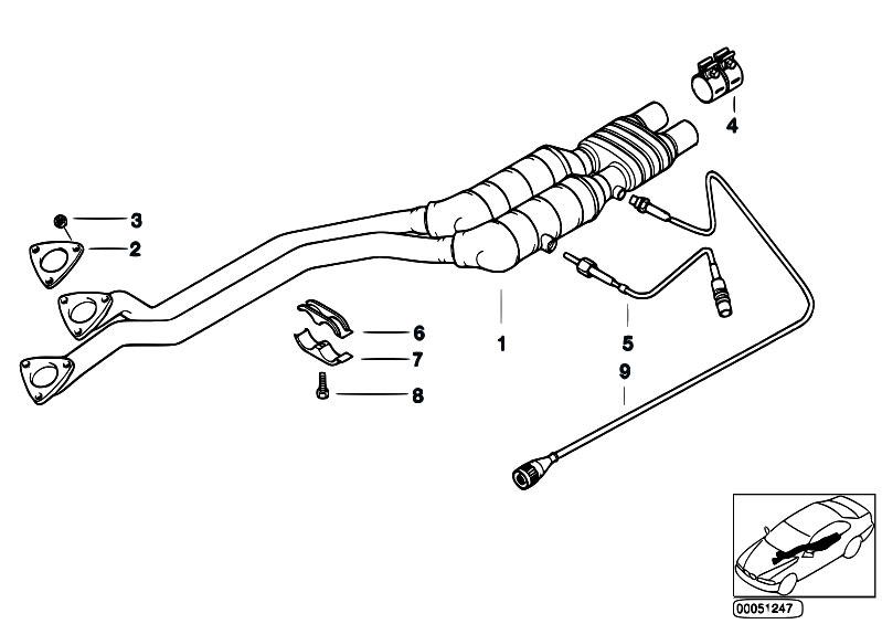 Original Parts For E39 520i M52 Sedan    Exhaust System