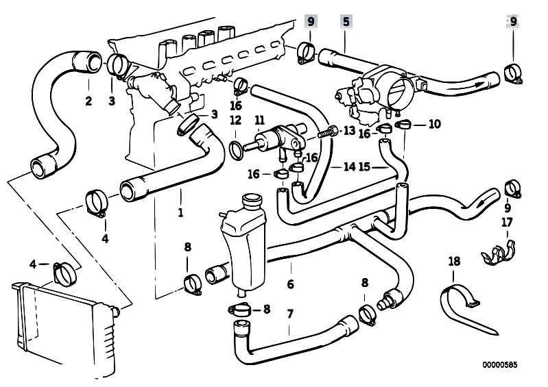 1999 328i sensor diagram original parts for e36 320i m50 cabrio / engine/ cooling ... #12