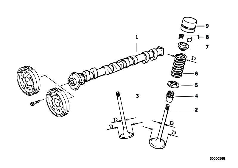 original parts for e36 318ti m42 compact    engine   valve