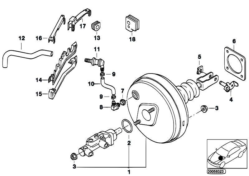 Original Parts For E39 520d M47 Touring    Brakes   Power