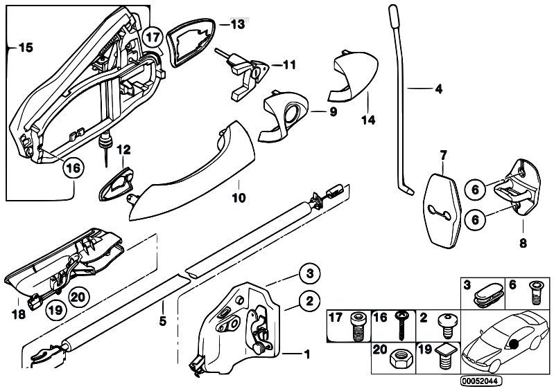 Original Parts For E53 X5 4 4i N62 Sav Bodywork Door Control