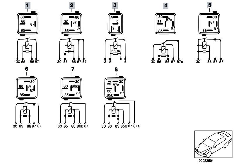 original parts for e53 x5 4 4i m62 sav    engine electrical system   relay motor