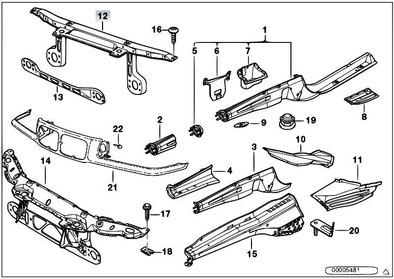 original parts for e36 328i m52 coupe    bodywork   front