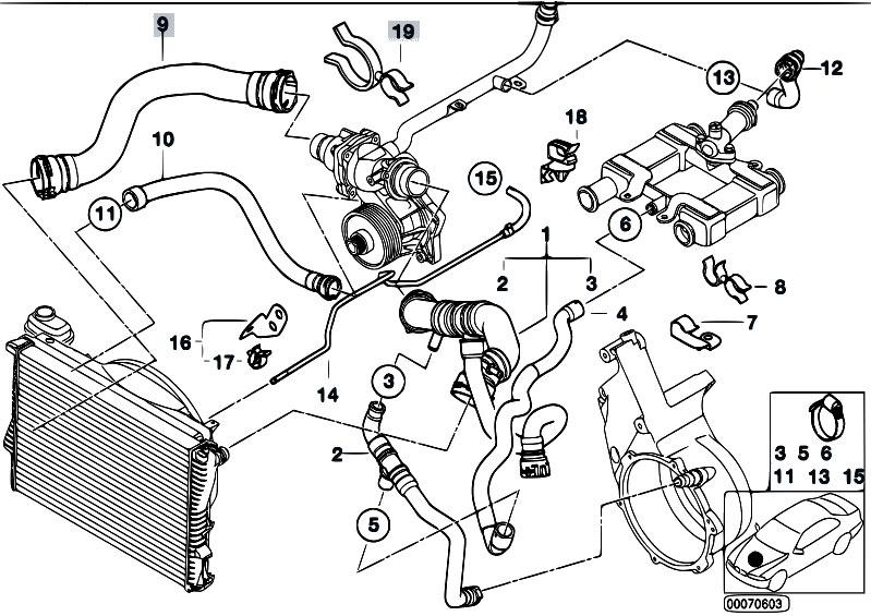 Original Parts For E38 740d M67 Sedan    Engine   Cooling
