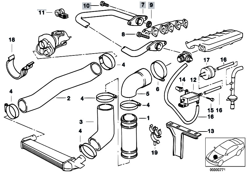 original parts for e36 325tds m51 touring / engine/ intake ... bmw 318ti engine diagram intake pontiac vibe engine diagram intake #8