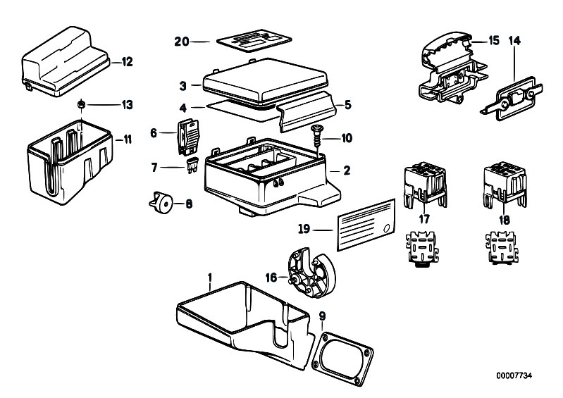 original parts for e32 730i m30 sedan    vehicle electrical