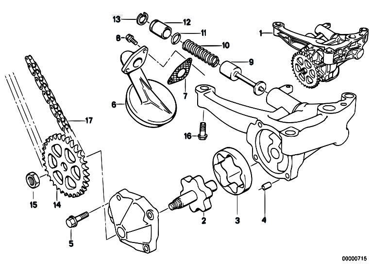 Original Parts For E34 520i M50 Touring Engine Lubrication System