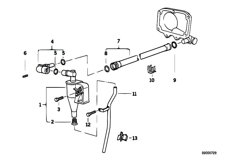 Original Parts For E38 735i M62 Sedan    Engine   Crankcase