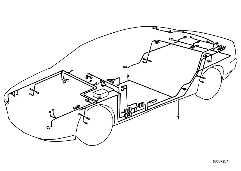 original parts for e38 725tds m51 sedan    vehicle