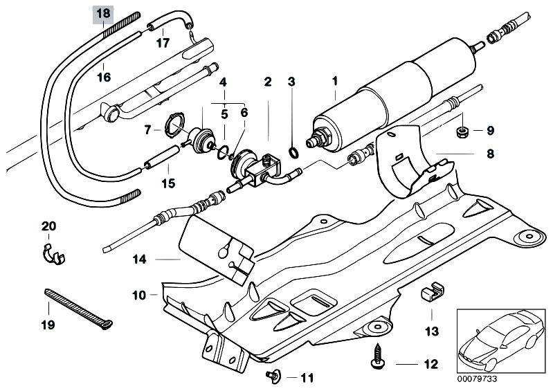 original parts for e46 m3 csl s54 coupe fuel preparation. Black Bedroom Furniture Sets. Home Design Ideas
