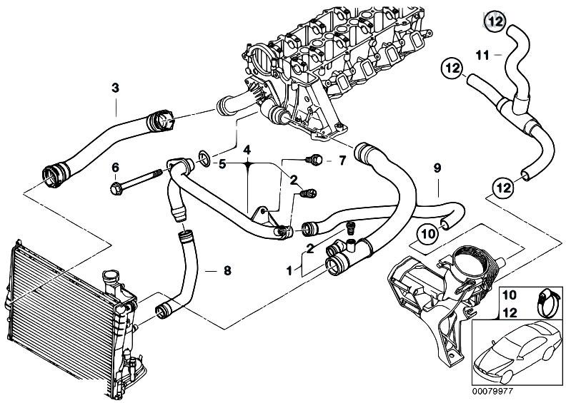 Original Parts For E46 318d M47 Sedan    Engine   Cooling