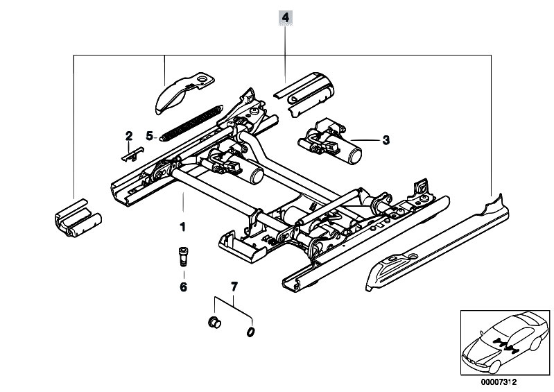 Original Parts For E38 730il M60 Sedan    Seats   Front Seat