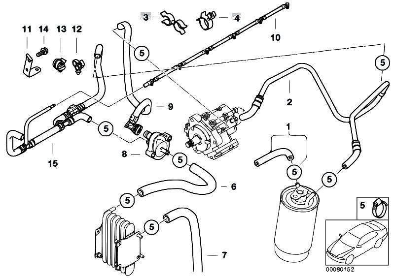 Original Parts for E46 330d M57 Touring / Fuel Preparation System
