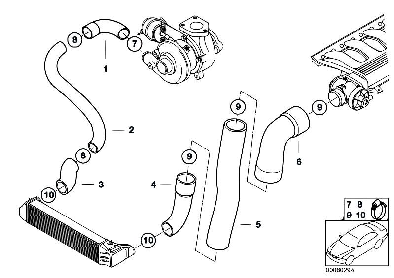 Original Parts For E39 520d M47 Touring    Engine   Intake