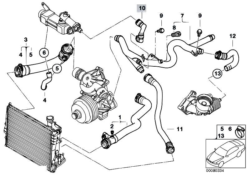 Original Parts for E46 330d M57 Touring  Engine Cooling