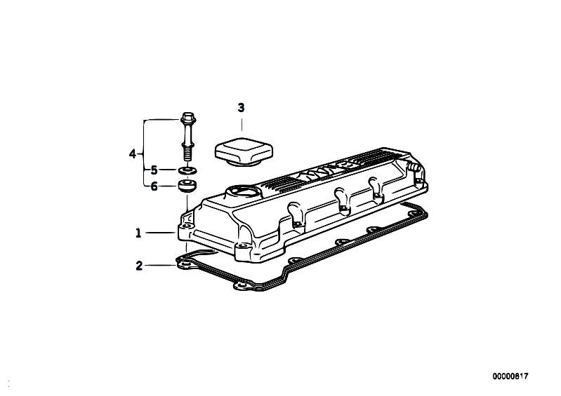 original parts for e46 318i m43 touring    engine   cylinder head cover