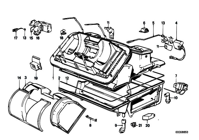 Bmw E36 Air Conditioning Wiring Diagram : Original parts for e m s cabrio heater and air