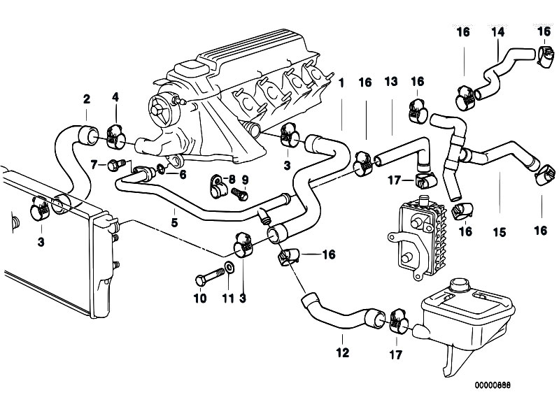 bmw z3 engine diagram bmw 323is engine diagram original parts for e36 318tds m41 touring / engine ... #7