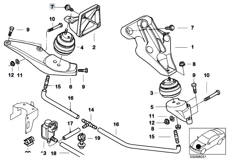 Original Parts For E38 725tds M51 Sedan    Engine And