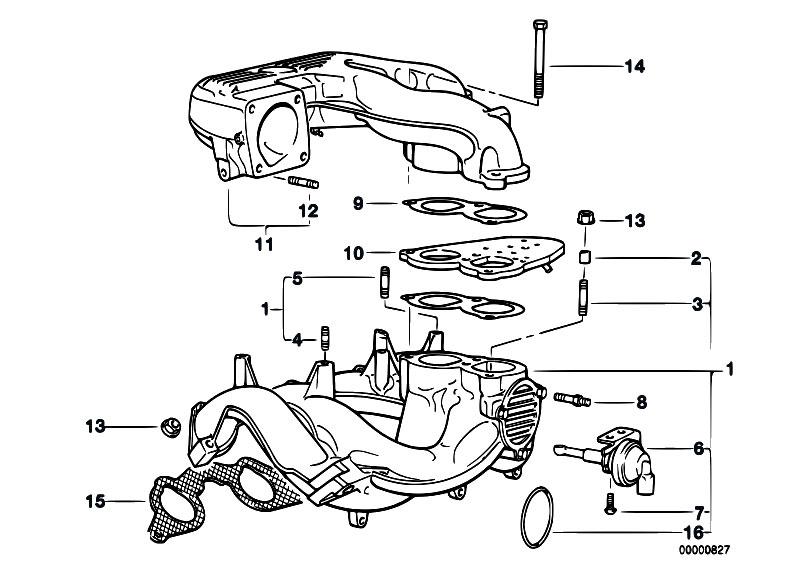 original parts for e36 318i m43 sedan    engine   intake