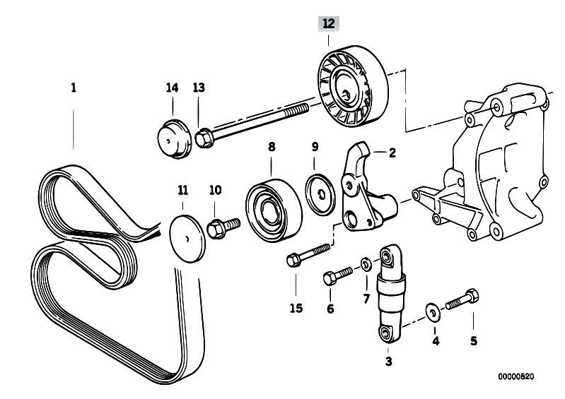 318i belt diagram original parts for e36 318i m43 sedan engine belt drive water  original parts for e36 318i m43 sedan