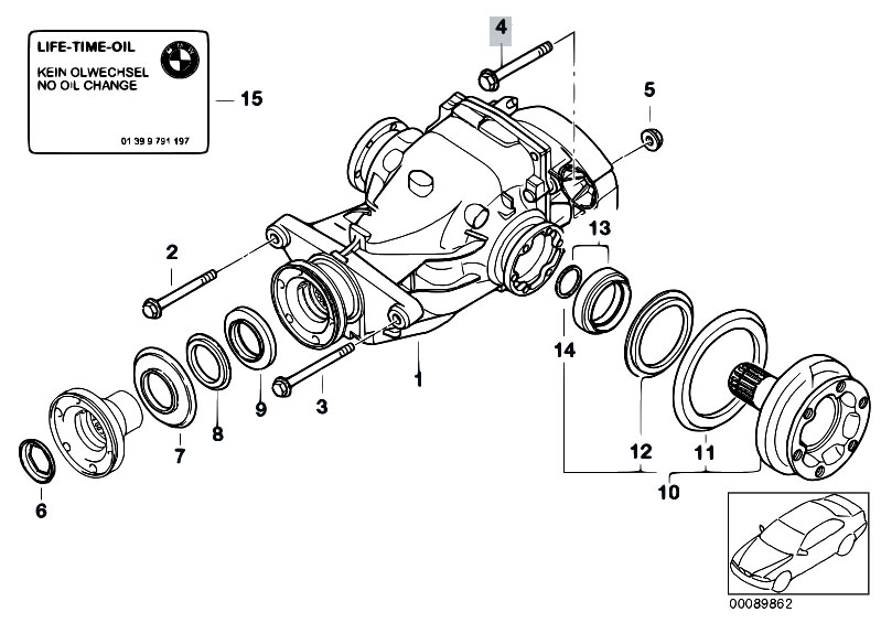 e36 bmw differential diagram original parts for e60 530d m57n sedan / rear axle ... #4