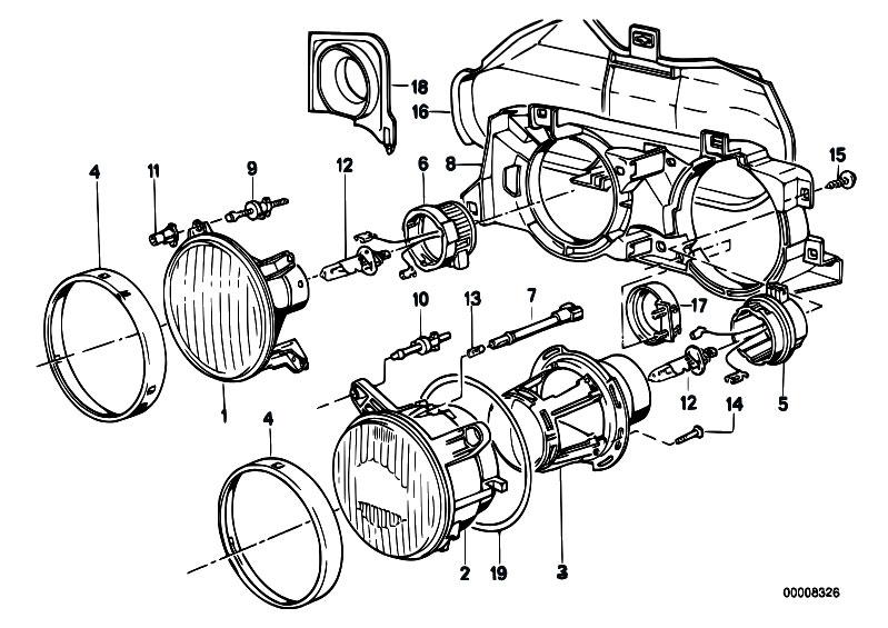 Original Parts For E30 M3 S14 Cabrio    Lighting   Single Parts F Ellipsoidal Headlight 2
