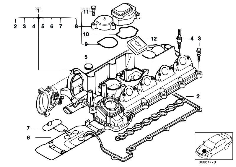 Original Parts for E46 320d M47 Sedan / Engine/ Cylinder Head Cover -  eStore-Central.comeStore-Central.com