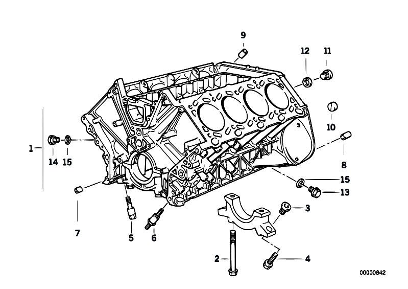 original parts for e38 740il m60 sedan    engine   engine