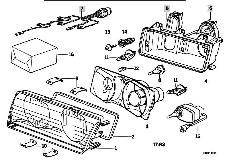 Original Parts for E36 325td M51 Sedan / Lighting/ Single Components ...