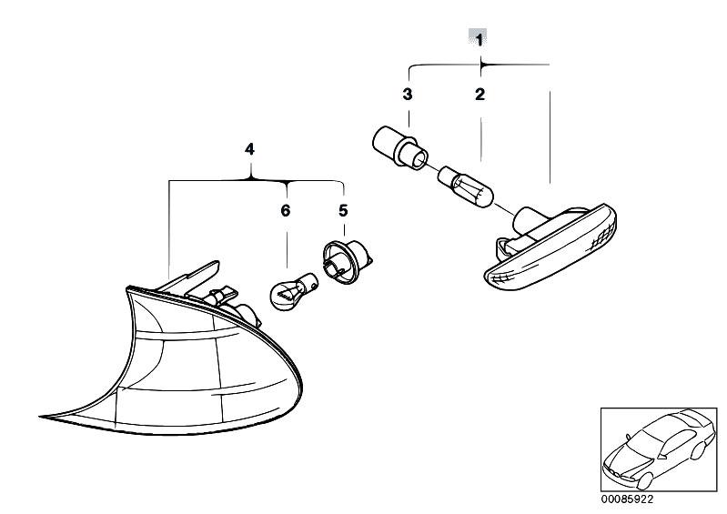 original parts for e46 325ti m54 compact    lighting