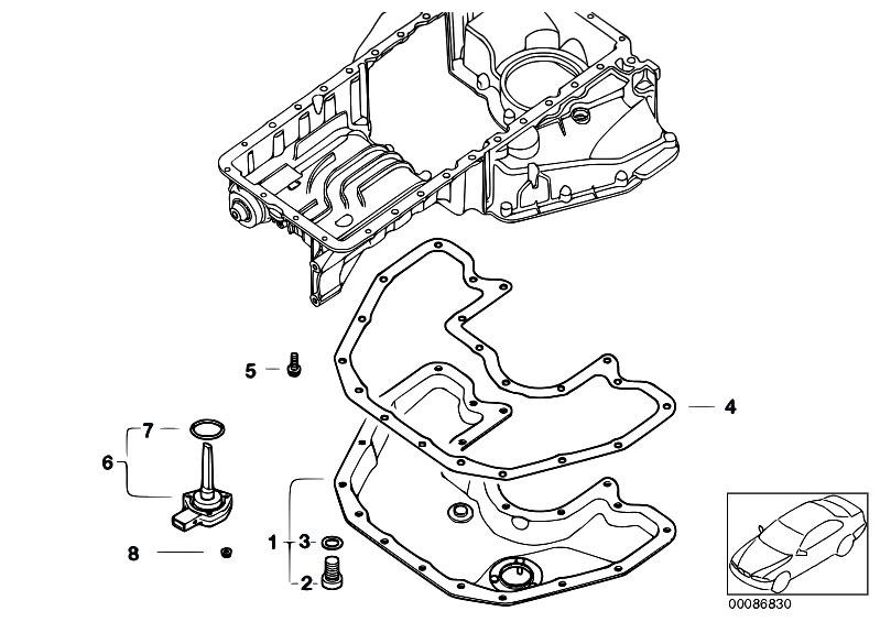 original parts for e64 645ci n62 cabrio    engine   oil pan