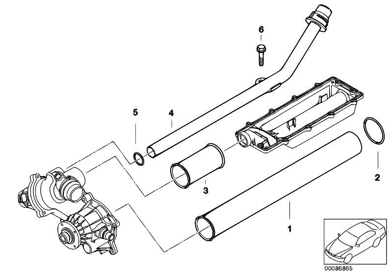 original parts for e53 x5 4 4i n62 sav    engine   cooling