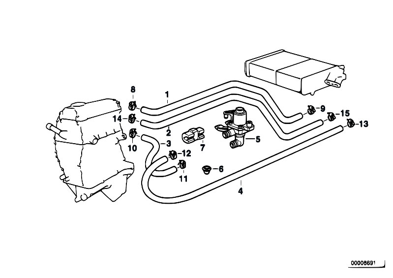 Original Parts For E36 318ti M42 Compact    Heater And Air