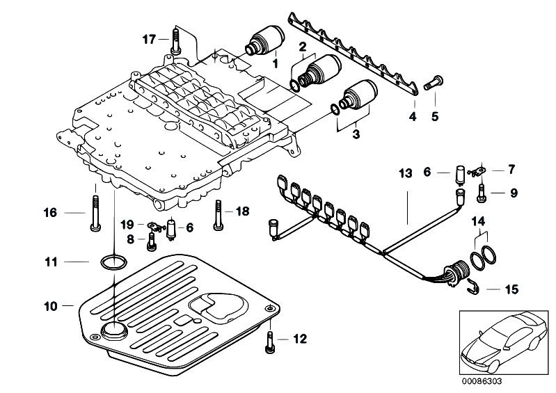 Original Parts For E53 X5 44i M62 Sav Automatic Transmission Rhestorecentral: Bmw M62 Wiring Diagram At Gmaili.net