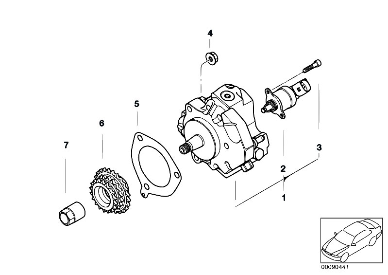 bmw e46 pulley diagram