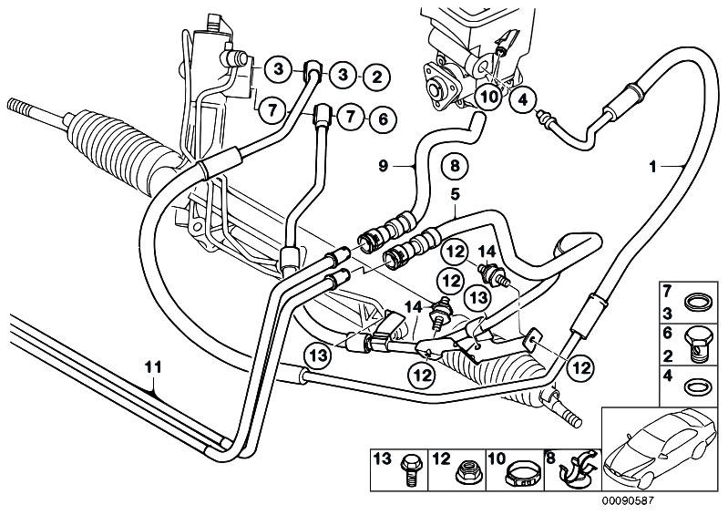 Original Parts For E53 X5 3 0d M57n Sav Steering Hydro Steering