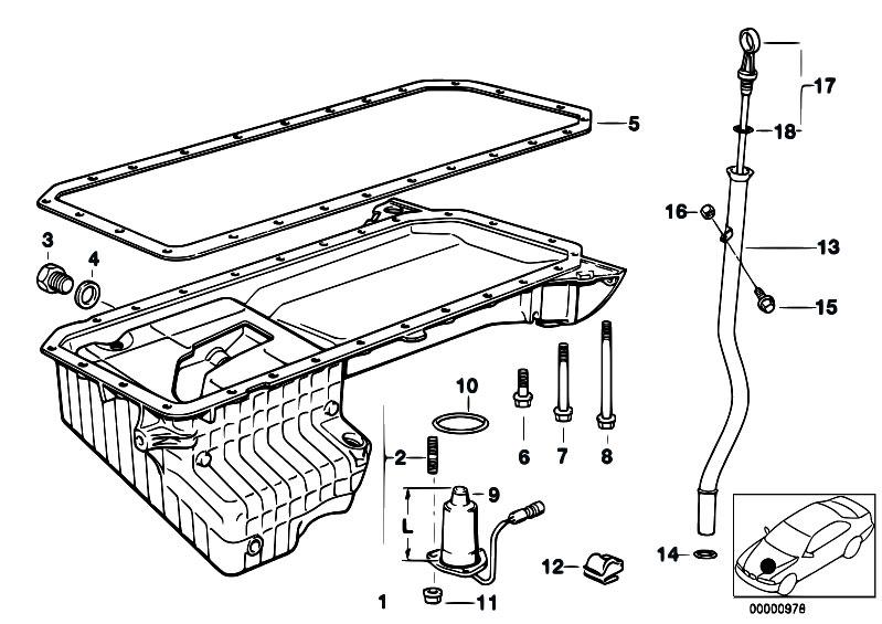 Original Parts For E39 525tds M51 Touring Engine Oil Pan Rhestorecentral: Bmw E39 Oil Level Sensor Wiring Diagram At Taesk.com